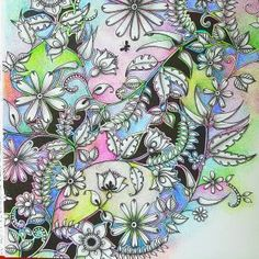 Gallery of Betty Hung's coloring projects Secret Garden Coloring Book, Coloring Book Art, Adult Coloring, Coloring Tutorial, Color Inspiration, Colored Pencils, Gallery, Artwork, Projects