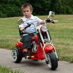 Lil Rider Red Rocking 3 Wheel Chopper Motorcycle Battery Powered Riding Toy | from hayneedle.com