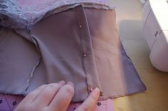 Silver Rose Sewing: Tutorial: My Satin'N'Lace Corset Dress Part 1 Adding Boning to Strapless Bodice