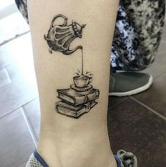 Charming book and tea time tat.