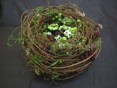 Photo via Fleur et fleurs Cut Flowers, Fresh Flowers, Bird Nest Craft, Pinterest Garden, Arte Floral, Ikebana, Flower Decorations, Flower Designs, Flower Art