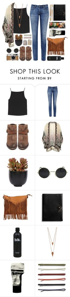 """""""Indie"""" by kinky-rick ❤ liked on Polyvore featuring T By Alexander Wang, MiH Jeans, H by Hudson, Ashley Pittman, Lux-Art Silks, Cut N' Paste, Coach, Jura, Hermès and Jules Smith"""