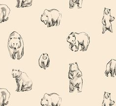 Bears Art Print by Leah Reena Goren