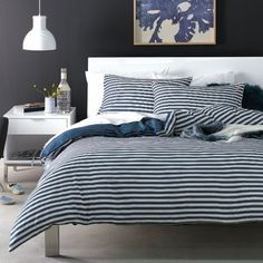 Buckley Double Quilt Cover Set  Navy was $69.95, NOW $51.95 #absolutelyeverythingsonsalesale #freedomaustralia