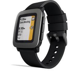 Pebble Time 黑色智能手表 特价 $69.50 - https://www.168168.com/seller/pebble-time-smartwatch-black/
