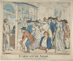 The Print Shop Window-A Common past time was to look in print shop windows for the latest prints and caricatures. Prince George despised the prints and the way he was portrayed in them.