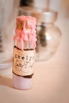 DIY Vial of Fairy Dust for a Little Girl.....Would make a wonderful Flower Girl gift