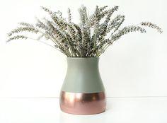 Painted Ceramic Vase Home Decor by ShadeonShape on Etsy https://www.etsy.com/listing/115024918/painted-ceramic-vase-home-decor