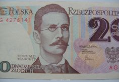 old Polish 20 Zloty banknote from the 1980s