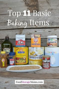 Top 11 Basic Baking Items every home must have in the pantry   via: foodstoragemoms.com