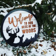 Ideas diy crafts to sell spring wood signs Rustic Cabin Decor, Rustic Wood Signs, Wooden Signs, Rustic Cabins, Log Cabins, Rustic Farmhouse, Patio Signs, Porch Signs, Rustic Wood Furniture
