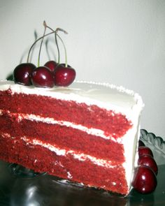 Red Velvet Cake com Cerejas
