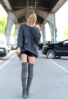 15 Style Ideas How To Wear Over The Knee Boots For Early Fall - Be Modish #fashion #style #fall