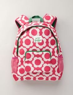 Mini Boden pink wallpaper backpack $40