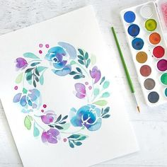 Happy Saturday! This is the fast demo from my class Thursday! Don't forget to enter the giveaway for some amazing @sakuraofamerica paint two posts back! Do you ever watch IG or FB live? Which is better???? I'm taking a poll. Live can be dangerous with 4 kids running around but I have fun new @officialcricut toys to show you!!! . . . . . . . . #pursuepretty #abmlifeiscolorful #minted #mintedartist #watercolor #botanical #wallart #interiors #interiordesign #thatsdarling #morningslikethese #wip