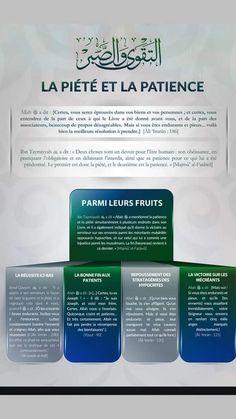 Fruits de la piété et de la patiente .... Ibn Taymiyyah, Hadith, Patience, Mon Combat, Saint Coran, Allah God, Ramadan, Noble Quran, Coran Islam