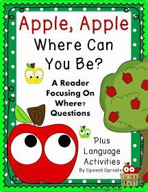 Apple Apple Where Can You Be? from Speech Sprouts use for following directions and asking questions
