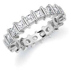 Princess Cut Eternity Ring- White Gold 1ct $2222.00 #Diamonds