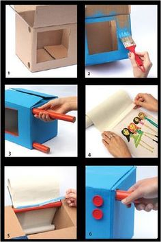movie at home Kids Crafts, Bible Crafts, Projects For Kids, Diy For Kids, Diy And Crafts, Cardboard Box Crafts, Cardboard Toys, Paper Toys, Paper Crafts