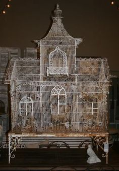 Wow... Victorian birdcage but i never wanna put a bird in it!