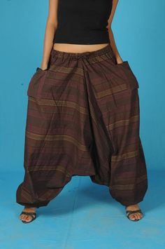 Mens Harem Pants Baggy Genie Fisherman man Pants by Labhanshi, $20.00