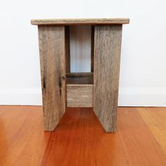 Recycled Timber Small 'Cafe' Stool on Etsy, $77.44