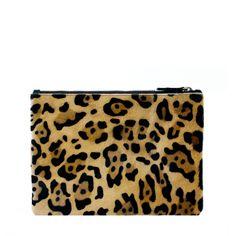 Raku leopard clutch