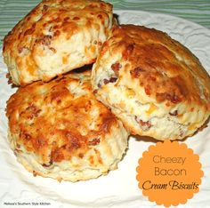 Cheezy Bacon Cream Biscuits | now just add some sausage gravy over the top.... :O