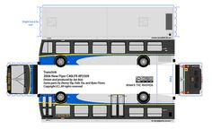 New flyer Translink  paper bus model by R. Flores. DIY paper craft