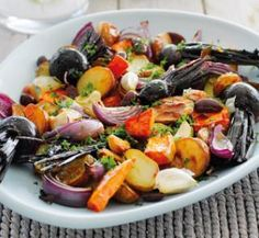 Festive roast vegies that is low in fat and high in fibre | Australian Healthy Food Guide