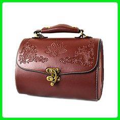 Catkit Vintage Womens Floral Antique Totes Handbag Shoulder Bag Brown - Totes (*Amazon Partner-Link)