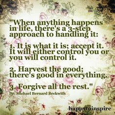 When things happen in life....