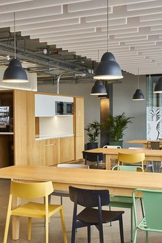 Office kitchen and cafeteria. | office cafeteria | office cafe ideas | office designs | #modernoffices #officedesign #officecafeteria #cafeteriadesign | www.ironageoffice.com