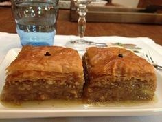 Learn how to make this delicious Greek pastry with this authentic baklava recipe. Baklava is made of phyllo layers filled with almonds and held with honey. Greek Baklava, Baklava Recipe, Baklava Dessert, Greek Desserts, National Dish, Banana Bread, Food And Drink, Dessert Recipes, Cooking Recipes
