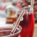 #Champagne cocktails for #Christmas (& remember the glass straw!)
