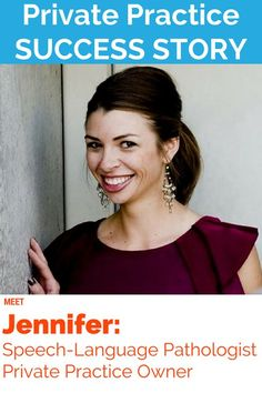 Jennifer Buck started her own speech therapy private practices (yes 2 of them!) Read her story: www.independentcl...