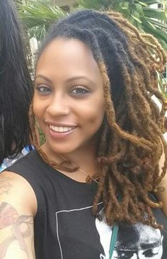 Love her locs...color