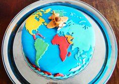 Bolo Mapa Mundi Tema Viagem Voyage Cake