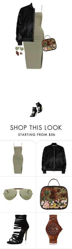 """""""How to Style an Army Green Dress with a Black Bomber Jacket"""" by outfitsfortravel ❤ liked on Polyvore featuring Givenchy, Ray-Ban, Chanel, AB Aeterno and Melissa Joy Manning"""