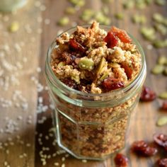 This grain-free Quinoa Flake Granola is chock full of seeds - seven different kinds, to be exact!