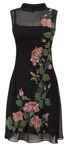 >>>Cheap Sale OFF! >>>Visit>> Miss Selfridge Floral Embroidery Trend Dress Outfits, Fashion Dresses, Cute Outfits, Dress Clothes, Summer Outfits, Embroidery Dress, Floral Embroidery, Dresscode, Modelos Fashion