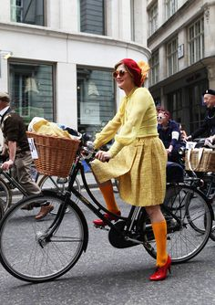 ...I will ride my cruiser in only the flyer of yellow frocks.