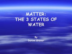 Matter: The 3 States of Water Presentation