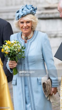 Camilla, Duchess of Cornwall attends a service at Westminster Abbey on October 2019 in London, England. The service marks the anniversary of Westminster Abbey. (Photo by Mark Cuthbert/UK Press via Getty Images) Camilla Duchess Of Cornwall, Duchess Of Cambridge, London People, Camilla Parker Bowles, Royal Fashion, Style Fashion, Herzog, Westminster Abbey, Royal Weddings