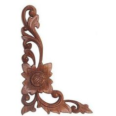 NOVICA Hand-Carved Floral Suar Wood Relief Panel from Bali