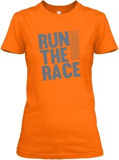 Run The Race  Orange T-Shirt Front