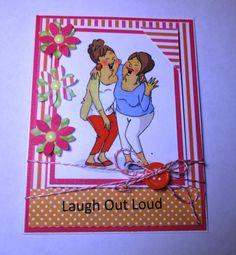Ladies Laughting Handmade Card by LoveInBloomCreations on Etsy, $3.25