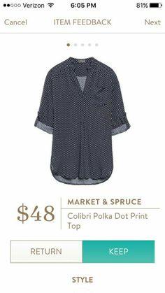 (Returned) Market & Spruce Colibri Polka Dot Print Top  https://www.stitchfix.com/referral/7418874