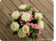 Susannan Työhuone - päiväkirja vanhalta rautatieasemalta: kesäkeittiö Floral Wreath, Wreaths, Rose, Flowers, Plants, Home Decor, Floral Crown, Pink, Decoration Home