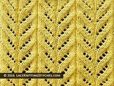 Lace knitting pattern chart #18